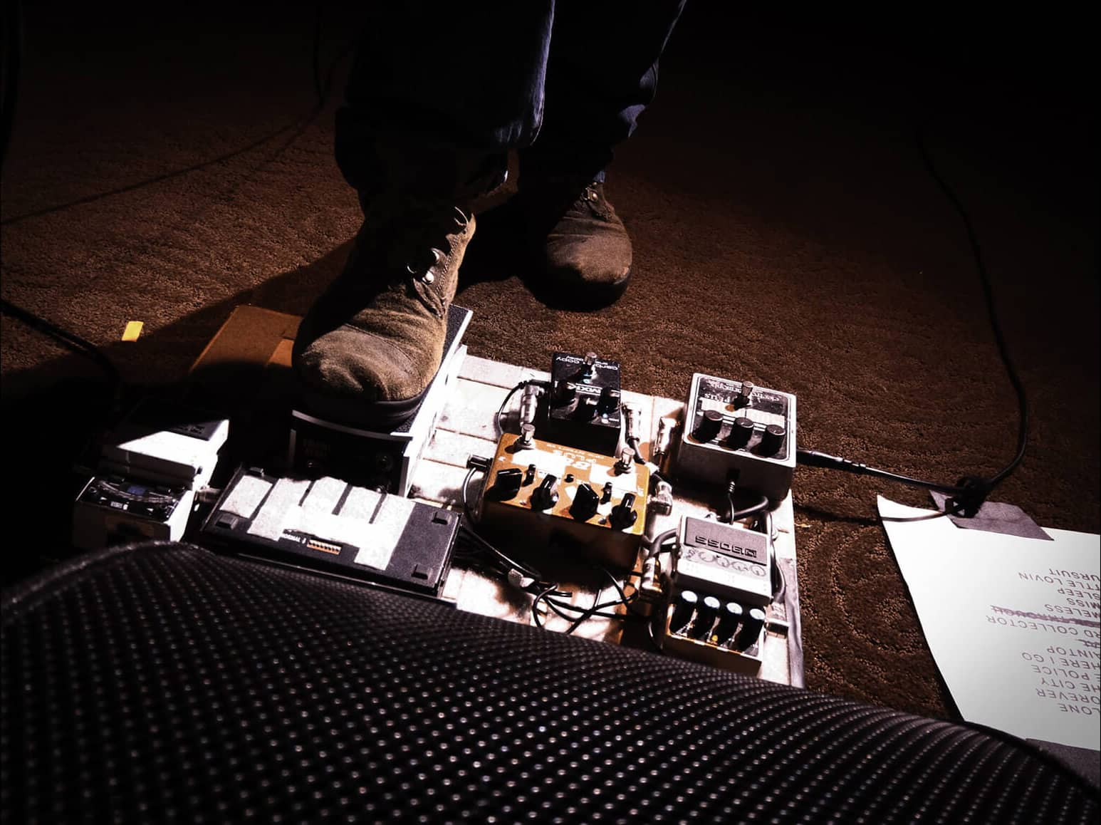 Lissie pedal board and set list