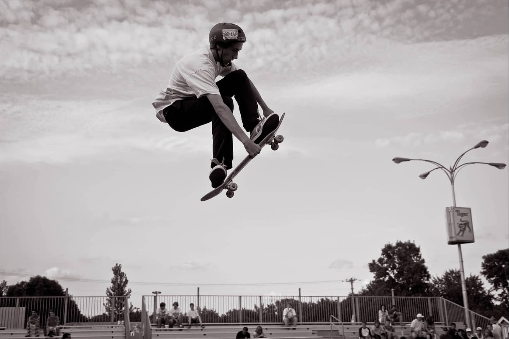 Skateboarder in the air at Minnesota State Fair
